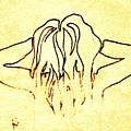 Nude Female Hands In Hair by Sheri Buchheit