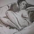 Nude In Chair by Adam Davis