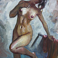 Nude In Shower by Ylli Haruni