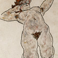 Nude Lying Down by Egon Schiele