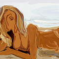 Nude On The Beach by Rabi Khan