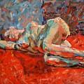 Nude Portrait Of Mary by Piotr Antonow
