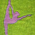 Pink Nude Yoga Girl by Stormm Bradshaw