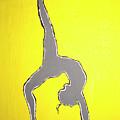 Nude Yoga Girl Gray by Stormm Bradshaw