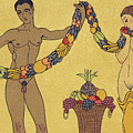 Nudes  Illustration From Les Chansons De Bilitis by Georges Barbier