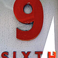 Number 9 Sixth From A 50's Building by Denise Beverly