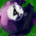 Number Four Billiards Ball Abstract by David G Paul