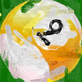 Number Nine Billiards Ball Abstract by David G Paul