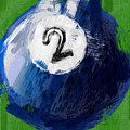 Number Two Billiards Ball Abstract by David G Paul