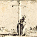 Nun Embracing The Holy Cross by Jacques Callot