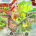 Nuremberg, Hand Drawn Picture by Irina Afonskaya