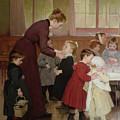 Nursery School by Hneri Jules Jean Geoffroy