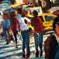Ny Cross Walk by Bob Dornberg