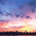 Ny Skyline Dawn Delight by Regina Geoghan