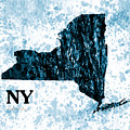 Ny State Map  by Enki Art