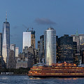 Nyc And Staten Island Ferry by Sean Sweeney
