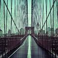 Nyc Brooklyn Bridge Bwr by Edward Fielding