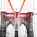 Nyc Brooklyn Bridge Lens Flare by Edward Fielding