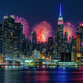Nyc Fireworks Celebration by Susan Candelario