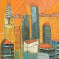 Nyc In Orange by Habib Ayat
