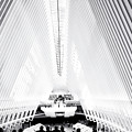 Nyc- Inside The Oculus In Black And White by Regina Geoghan