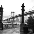 Nyc Manhattan Bridge Bw by Chuck Kuhn