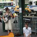 Nyc Street Musicians Banjo by Chuck Kuhn