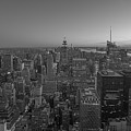 Nyc Sunset Bw by Michael Ver Sprill