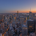 Nyc Sunset by Michael Ver Sprill