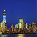 Nyc Tribute Of Lights 2012 by Regina Geoghan