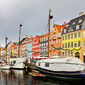 Nyhavn Harbour In Copenhagen by Sophie McAulay
