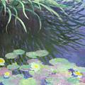 Nympheas Avec Reflets De Hautes Herbes by Claude Monet