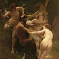 Nymphs And Satyr by William Adolphe Bouguereau