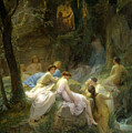 Nymphs Listening To The Songs Of Orpheus by Charles Francois Jalabert