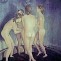 Nymphs Playing by Masami Iida