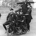 Nypd Motorcycle Stunts by Underwood Archives