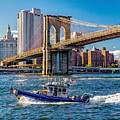 Nypd On East River by Nick Zelinsky