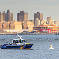 Nypd Patrol Boat In East River by SR Green