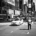 nypd traffic cop on Times Square New York City USA by Joe Fox