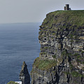 O Brien's Tower At The Cliffs Of Moher Ireland by Teresa Mucha