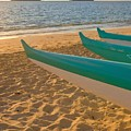 Oahu, Outrigger Canoes by Tomas del Amo - Printscapes