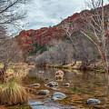 Oak Creek At The Base Of Cathedral Rock by Belinda Greb