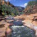 Oak Creek Flowing Through The Red Rocks by Rich Reid