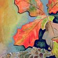 Oak Leaves And Pinecones by Brenda Owen