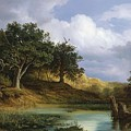 Oaks Beside The Water 1832  by Artistic Rifki