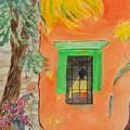 Oaxaca Mexico Church Colors by Warren Thompson