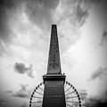 Obelisk And Big Wheel At Place De La Concorde, Paris by Bailey Cooper Photography