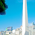 Obelisk On July Nine Avenue In Buenos Aires-argentina by Ruth Hager