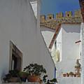 Obidos Portugal Walkway by Heather Coen