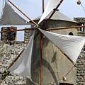 Obidos Windmill II Portugal by John Shiron